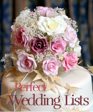 perfect wedding lists